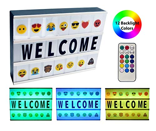 2019 Model Cinema Light Box with Letters and Emoji A4 Message Board (Color Changing)