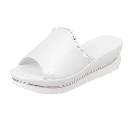 45ac6ebcd18ca Sunshinehomely Women Sandals, Ergonomic Flip-Flop Bohemia Summer Fish Mouth  Thick Bottom Wedge Platform Slippers