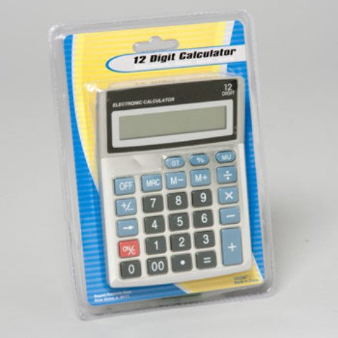 Calculator 12 Digit Button Cell 36 pcs sku# 1892990MA by DDI