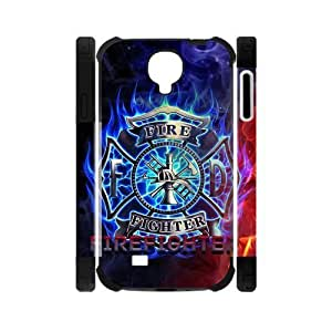 Firefighter Emblem Redeye Colorful Samsung Galaxy S4 I9500 Case Cover Flame Red Blue