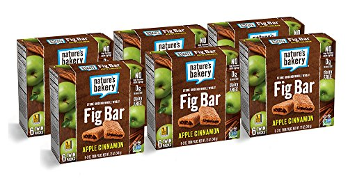 Nature's Bakery Whole Wheat Fig Bar, Vegan + Non-GMO, Apple Cinnamon (36 Count) (Bar Apple Organic)
