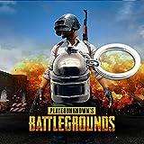 Battlegrounds Mini Helmet Keychain Men Kids GiftKeyring Heavy Duty Car Keychain for Men and Women Jewelry Accessories
