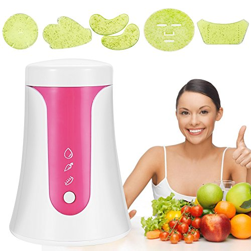 Face Mask Machine, Onekey Operate Smart DIY Fruit Vegetable Facial Mask Maker With Collagen Effervescent Tablets for Eye Chest Hand Neck Skin Care (Best Friend Collage Maker)