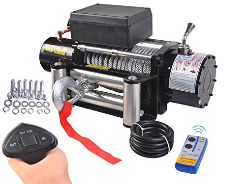 Safstar 12000lbs 12V Electric Recovery Winch Truck SUV Ca...