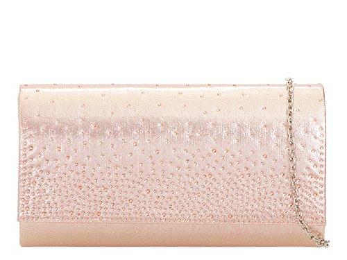 Bag Women's Glitter Ladies Formal Handbag Bridal Rain Drop Clutch Champagne KH2120 Party Diamante qBrXAfXwI