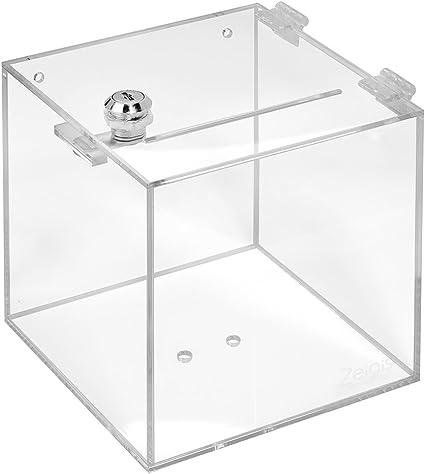 Votaciones de acrílico cristal con candado en 150 x 150 x 150 mm ...