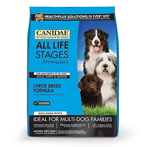 CANIDAE All Life Stages Large Breed Dog Dry Food Turkey Meal & Brown Rice Formula, 30 lbs (Dry Rice Brown Formula)
