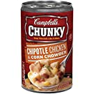 Campbell's Chunky Soup, Chipotle Chicken & Corn Chowder, 18.8 Ounce (Pack of 12) (Packaging May Vary)