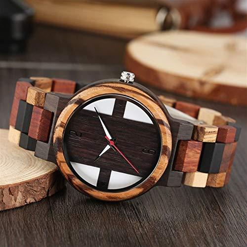 Lo Nuevo Reloj de Madera de los Hombres Retro Madera de ...