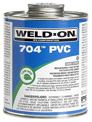 Weldon 12131 1/4 Pint 704 PVC Cement, Gray ()