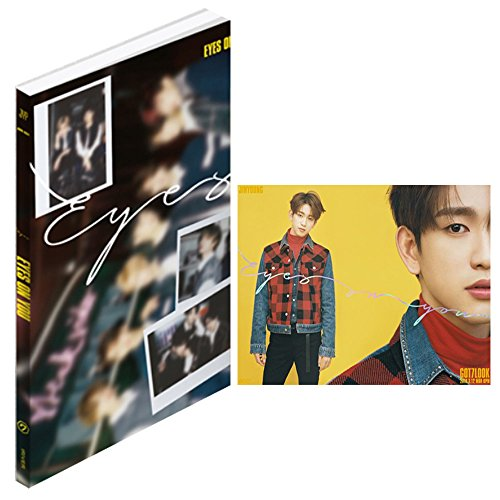 GOT7 KPOP Album Eyes On You [EYES ver.] Music CD + Photo Book + 3 Photo Cards + Lyrics Poster + Gift (4 Photo Cards Set)