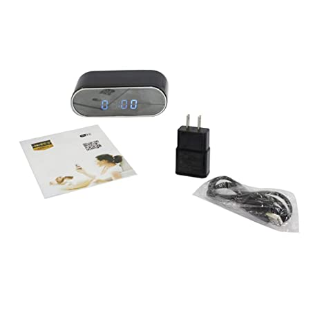 Tellaboull for Z10 Mini cámara Reloj Alarma IR Visión Nocturna Detección de Movimiento WiFi IP CAM
