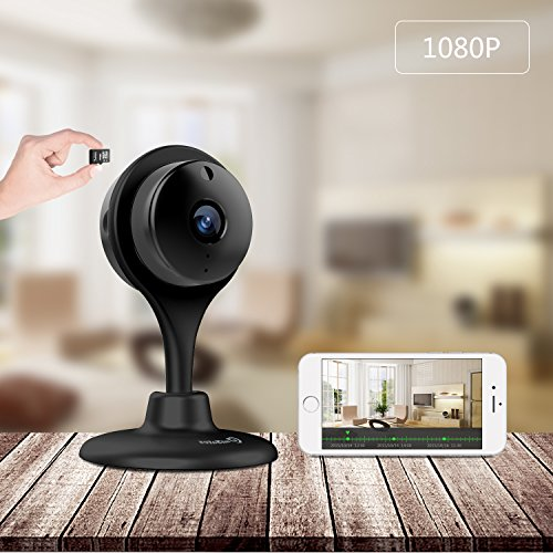 Wireless Security Camera, UG Baby Pets Monitor 1080p HD Night Vision Remote Home Surveillance Smart IP cam Wi-Fi Cameras with 2-way Audio for Smartphones
