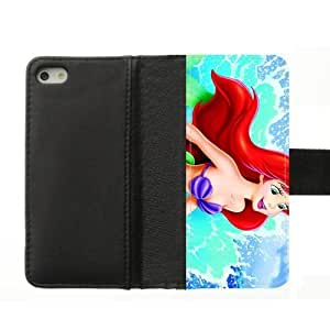 Little Mermaid iPhone 5S 5 case Disney Princess Custom Diary Leather Cover Case for iPhone 5S,5