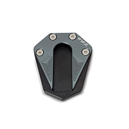 KKmoon Soporte Lateral del Pie Pata de Cabra para Motocicleta Ampliadora de Extensi/ón de Aluminio CNC para Benelli TRK 502 2017-2018
