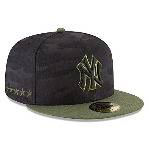 New Era New York Yankees 2018 Memorial Day On-Field 59FIFTY Fitted Hat – Black/Olive (Yankees Camo)
