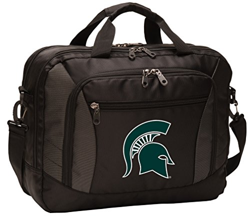 Broad Bay Michigan State University Laptop Bag Best NCAA Michigan State Computer Bags by Broad Bay