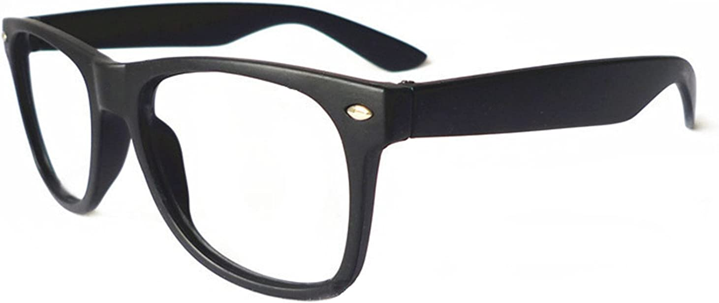 FancyG Classic Retro Fashion Style Glasses Frame Eyewear NO LENS - Matte Black: Clothing