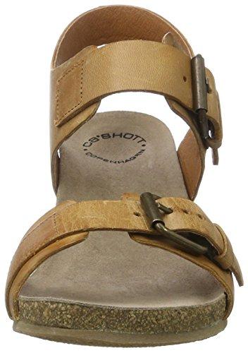 Cashott Signore A17074 Sandali Con Cinturino Marrone (cammello Ovest 135)