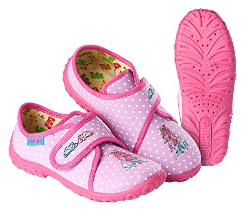 Pantoffeln Hausschuhe HARIBO Mädchen pink Größe: 25 - 35 (30)