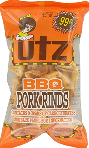 Utz BBQ Flavored Pork Rinds, 2.5 Ounce (Pack of 16) (Bbq Pork Rinds)