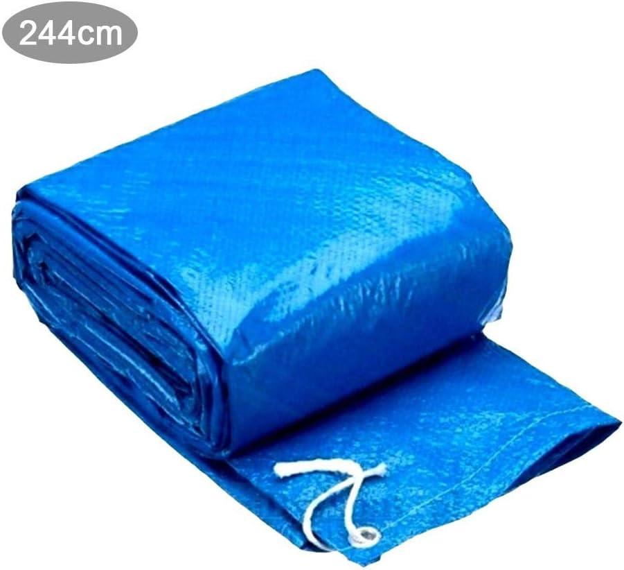 Rich-home Cubierta de Piscina, 244 cm de Diámetro Tela Solar Resistente A Los Rayos UV Cobertor Solar para Piscinas para Formas Planas Intex Y Bestway Y Piscinas Redondas: Amazon.es: Hogar