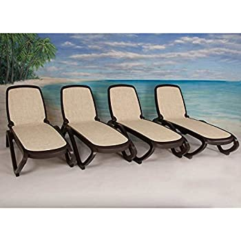 Amazon Com Nardi Omega Stackable Lounge Chairs Set Of 2