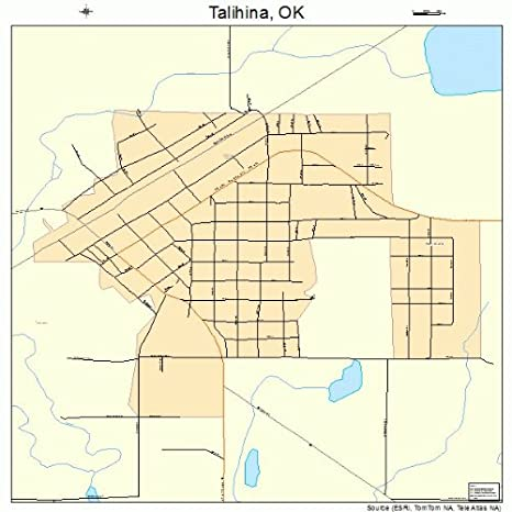 Talihina Oklahoma Map.Amazon Com Large Street Road Map Of Talihina Oklahoma Ok