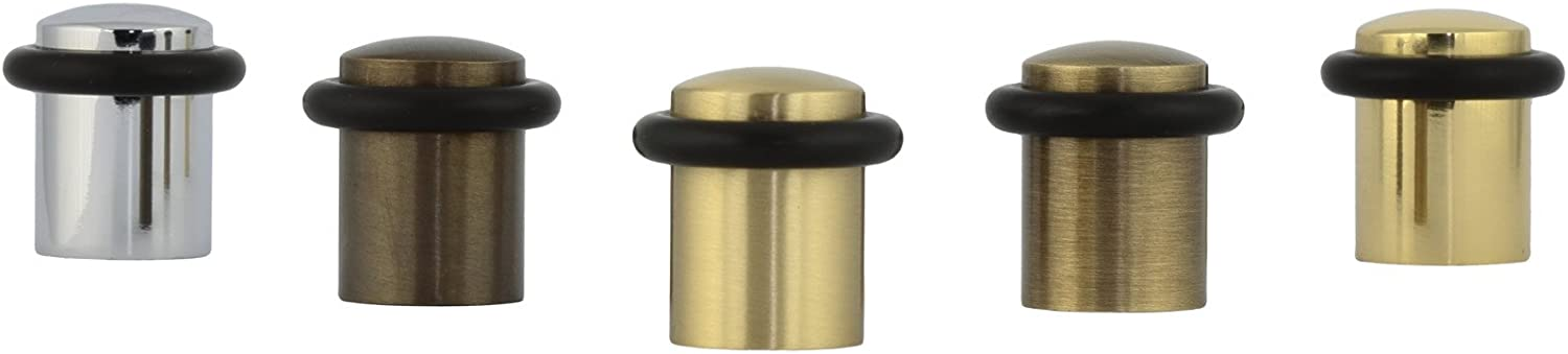 Pack of 2 Units Brass EVI Herrajes I-108-CB- Door Stop Finish White Brass