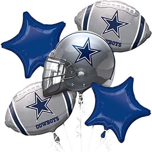 Anagram NFL - Dallas Cowboys - Foil Balloon Bouquet, Silver/Blue -