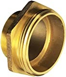 Dixon Valve DMH4045F Cast Brass Fire Equipment, Increaser Hex Nipple, 4'' NPT Male x 4-1/2'' NST (NH) Male