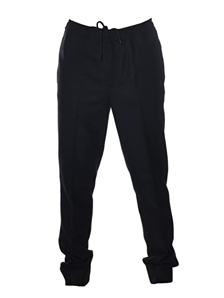 Moncler Pantaloni Uomo 105120058008999 Lana Nero: Amazon.it