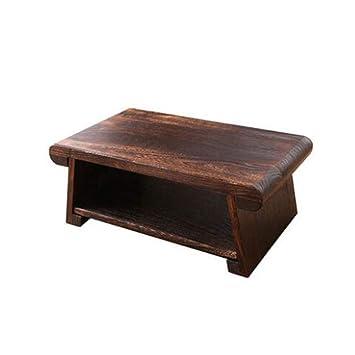 Amazon.com: Mesa auxiliar de 2 niveles para sofá, mesa de ...