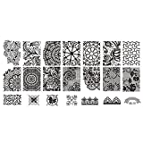Lace Stamper Nails Art Stamp Stamping Nail Template Flowers Image Printer Plate NO.10 by M-Egal