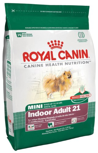 Royal Canin Dry Dog Food, Mini Indoor Adult 21 Formula, 15-Pound Bag