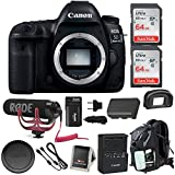 Canon EOS 5D Mark IV Full Frame Digital SLR Camera (Body) Video Bundle with Rode Microphone, 128GB (2X 64GB Memory Cards), Backpack & Double Battery Bundle For Sale