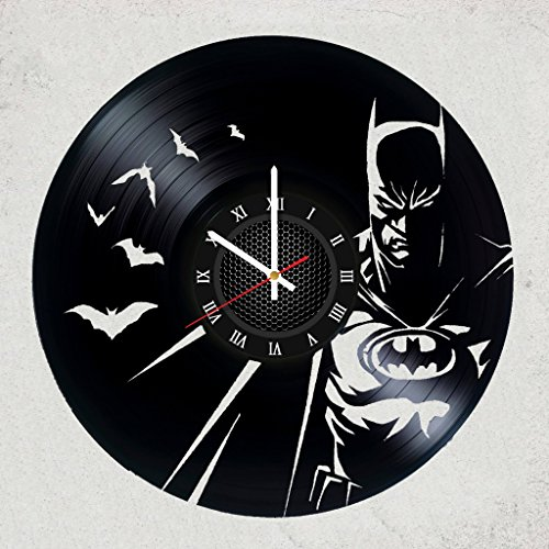 Batman DC Vinyl Record - Batman Wall Clock idea for Children,Batman Fan,boy,Girl,Teens - DC Comics Merchandise Gifts Bedroom,Garage Decor Best Superhero- Size of The Record is 12 inches (Best Teen Bedroom Ideas)