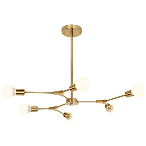 Bokt Mid Century Modern 6 Light Chandeliers Multi Adjustable