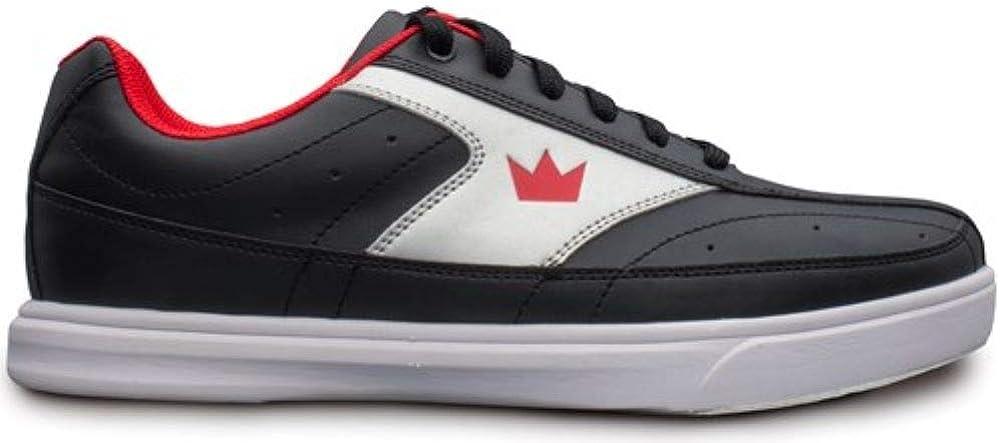 Brunswick Mens Renegade Flash Black//Red Bowling Shoes