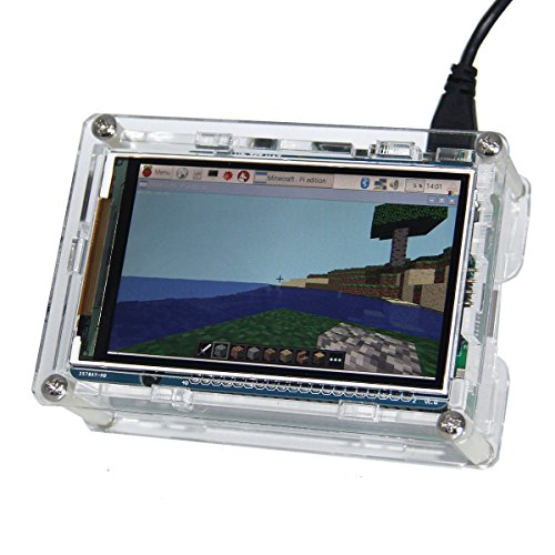 Raspberry Pi 3 Screen Geekworm 60+ Fps 800x480 High Resolution 3.5 inch HD Raspberry Pi High Speed TFT Display Shield Screen With Case For Raspberry Pi 3 Model B, Pi 2 Model B & Pi Model B+ by Geekworm