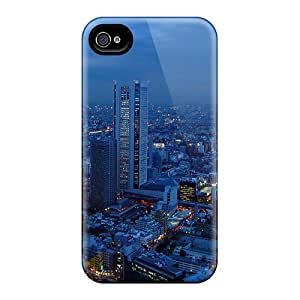 Hot Style YQWIvxz8792roDdY Protective Case Cover For Iphone4/4s(shinjuko Tokyo Japan At Dusk)