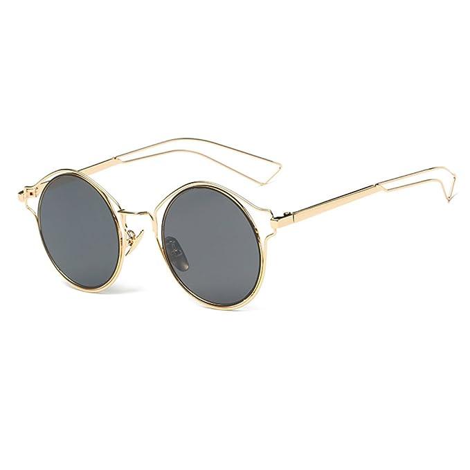 Bobury Hollow struttura del metallo Steampunk Occhiali da sole donne Occhiali da sole a specchio Eyewear Men ZRy1N4Ao
