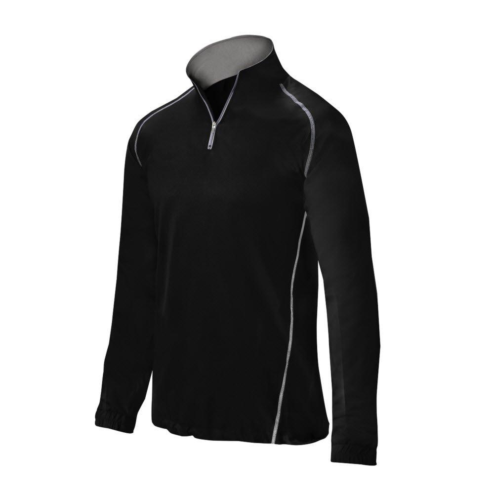 Mizuno Youth Comp 1 / 2 Zip中綿ジャケット B016WFXDUU Large|ブラック ブラック Large