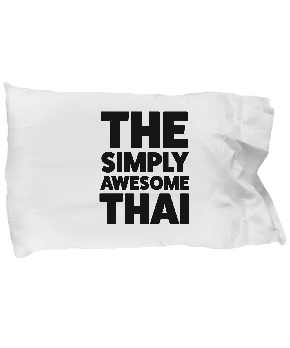 Thai Pillow Case - Funny Thai Gifts for Pride Moms Dads People Who Love or From Thailand - Awesome Thai Birthday Gifts Mothers Day Fathers Day by DesiDD