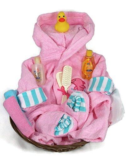 Sunshine Gift Baskets - Sea Characters 10 Piece Bath Time Gift Set - Pink