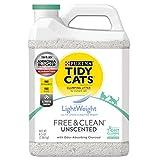 Purina Tidy Cats Lightweight Free & Clean with Ammonia Blocker Clumping Cat Litter - (2) 8.5 LB. Jugs