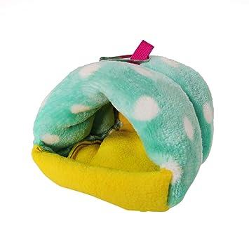 Sukisuki Hamster Bird Hedgehog Guinea Pig Warm Nest pequeña caseta para Animales domésticos Verde Verde: Amazon.es: Productos para mascotas