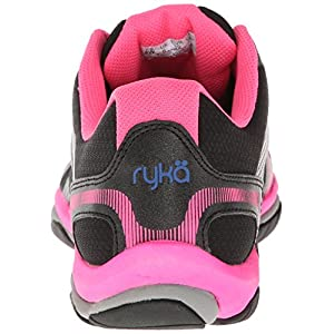 RYKA Women's Influence Training Shoe,Black/Atomic Pink/Royal Blue/Forge Grey,7.5 M US