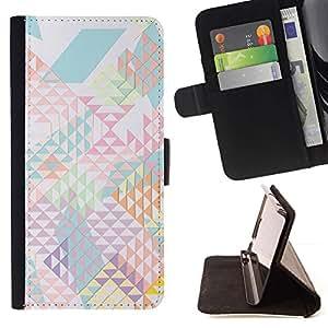 For Samsung Galaxy Note 4 IV Case , Patrón abstracto de las formas de luz- la tarjeta de Crédito Slots PU Funda de cuero Monedero caso cubierta de piel