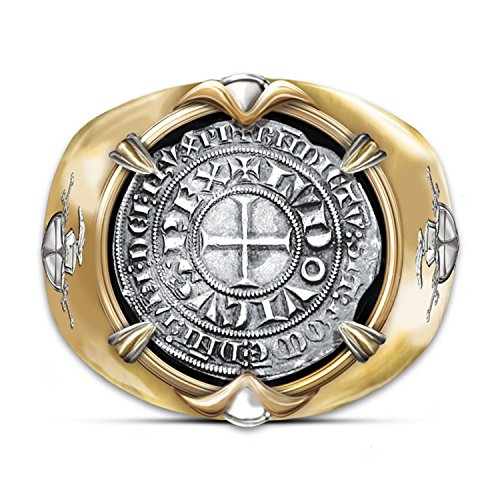 The Crusader 24k Gold Plated Men S Ring Of Valor Ring With